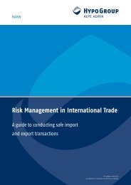 Risk Management in International Trade - Hypo Alpe-Adria-Bank AG