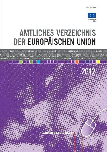 amtliches verzeichnis der europäischen union - EU Bookshop ...