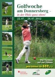 bei den Donnersberger Golfwochen - Sparkasse Donnersberg