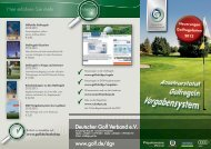 Deutscher Golf Verband e.V. www.golf.de/dgv Deutscher Golf ...