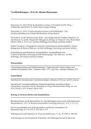 Liste aller Veröffentlichungen - Prof. Dr. Helmut Haussmann