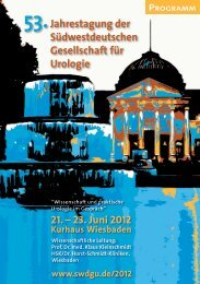 21. Juni 2012 - Südwestdeutsche Gesellschaft für Urologie