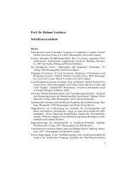 Prof. Dr. Helmut Voelzkow Schriftenverzeichnis
