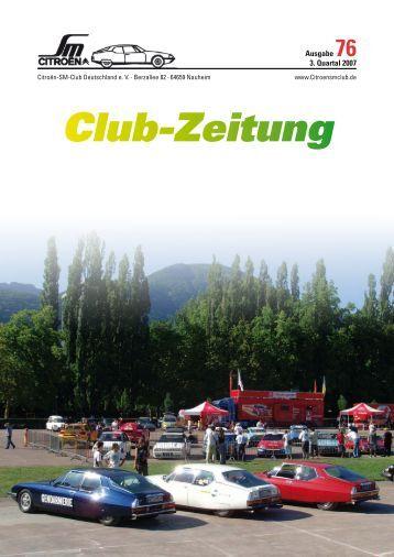 Club-Zeitung - Citroen-SM-Club Deutschland e.V.