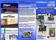 FUSSBALL– CAMP Projekt zur ... - CVJM Wiesbaden