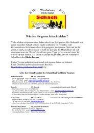 Würden Sie gerne Schachspielen ? - Bezirk 8 Rhein-Taunus