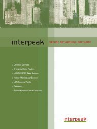 Interpeak's advanced networking protocols and