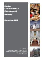 Informationen zur Bewerbung 2012 - communicationmanagement ...