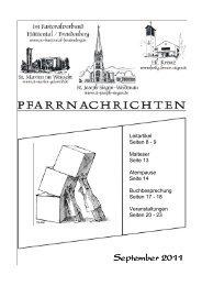 September 2011 - Pastoralverbund Hüttental-Freudenberg