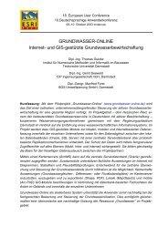 ESRI-Anwenderkonferenz 2003 : Grundwasser-Online: Internet