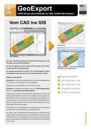 GeoExport ESRI-Shape-Schnittstelle für WS LANDCAD-Dateien