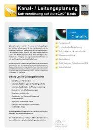 Kanal · Wasser · GIS Softwarelösungen auf AutoCAD®-Basis