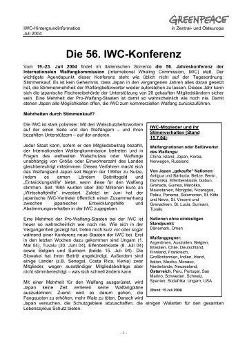 Die 56. IWC-Konferenz