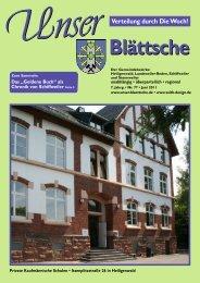 Unser Blättsche · Ausgabe 77 · Juni 2011 - VDesign Agentur für ...