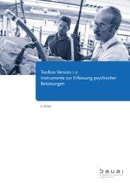 Toolbox Version 1.2 - Bundesanstalt für Arbeitsschutz und ...