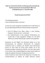 Rede von Landrat Ulrich Krebs zur Einbringung ... - Hochtaunuskreis
