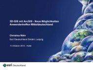 3D-GIS mit ArcGIS - Neue Möglichkeiten - Esri Deutschland GmbH