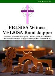 FELSISA Witness VELSISA Boodskapper