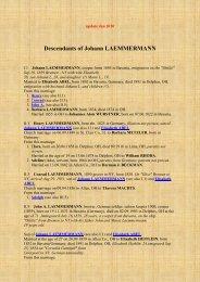 Descendants of Johann LAEMMERMANN - Lemmermann Genealogie