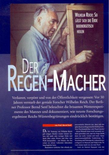 Energetische Wetterarbeit nach Wilhelm Reich - Bernd Senf