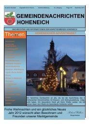 Download als PDF - Datei - Marktgemeinde Hoheneich