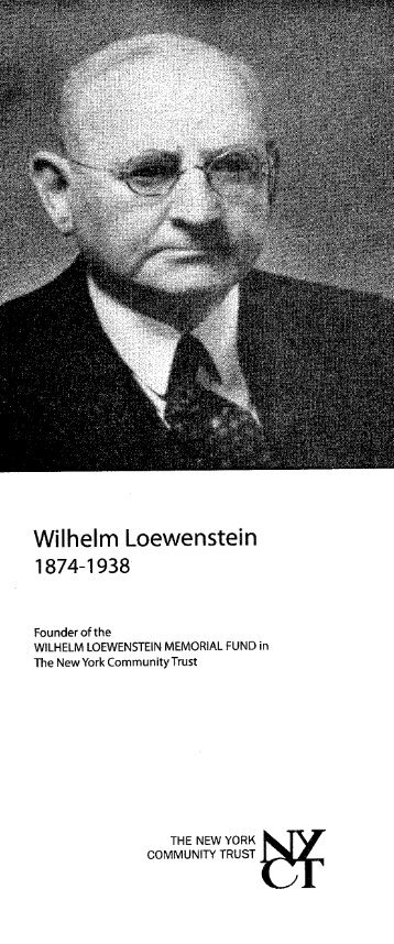 Wilhelm Loewenstein - The New York Community Trust