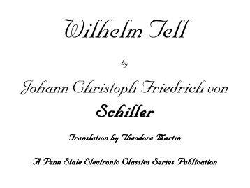Wilhelm Tell - Pennsylvania State University