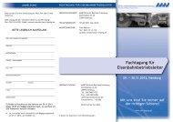 Fachtagung für Eisenbahnbetriebsleiter - AWV Aus
