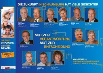 mut Zur verantWortung mut Zur entScheidung - CDU Sachsenhagen