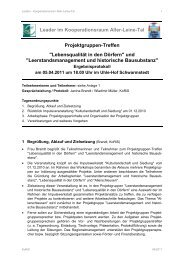 Leerstandsmanagement - Aller-Leine-Tal