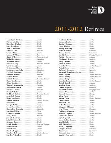 2011-2012 Retirees
