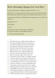 Der jüngere Physiologus, in: Wilhelm, Denkmäler dt. Prosa, S. 5-28 ...