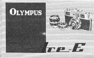 Olympus Ace-E Instruction Manual