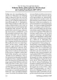 Wilhelm Bolins philosophischer Briefwechsel mit Ludwig Feuerbach ...