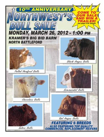 MONDAY, MARCH 26, 2012 - 1:00 PM - Kramer Auction Sales Ltd.