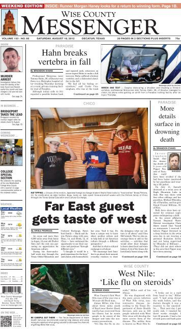 Download this edition as a .pdf - Wise County Messenger