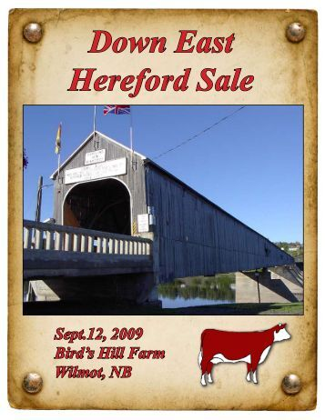 Down East Hereford Sale - Indian River Cattle Company