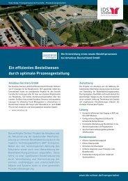 Ein effizientes Bestellwesen durch optimale ... - IDS Scheer AG