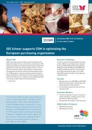 IDS Scheer supports CSM in optimizing the ... - IDS Scheer AG