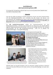 Geschäftsbericht dbb Frauenvertretung Hessen 2009