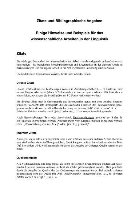 Zitate Und Bibliographische Angaben Schwedisch Intensiv