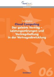 Leitfaden Cloud Computing Der gelebte Vertrag - EuroCloud.Austria