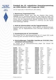 Protokoll - UHF-Gruppe der USKA