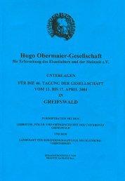 17. April 2004 - Hugo Obermaier Gesellschaft