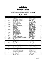 Schießplan Königsschießen - Lingener Bürgerschützenverein 1838 ...