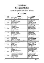 6. Juni 2006 - Lingener Bürgerschützenverein 1838 eV