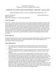 GERMAN CULTURE AND CIVILIZATION / GER150H / Summer 2012