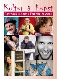 Menüplan im Jahr 2012 - Gasthaus zum Lamm Ettenheim