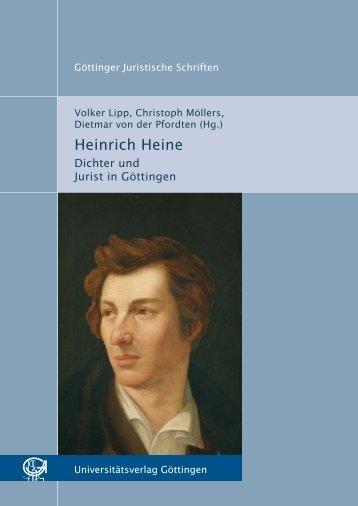 Heinrich Heine : Dichter und Jurist in Göttingen ... - Oapen