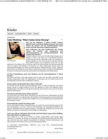 Cybermobbing Artikel Journal Frankfurt